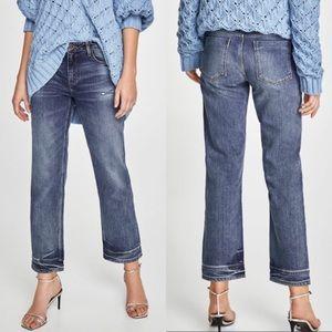 NWT Zara Straight Leg Distressed Double Hem 0/32